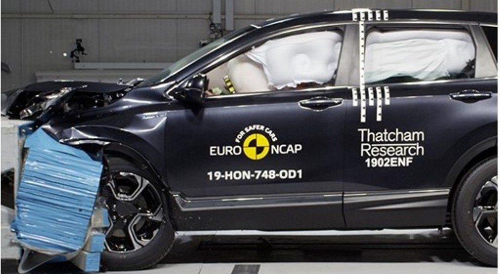 Un crash test di EuroNcap