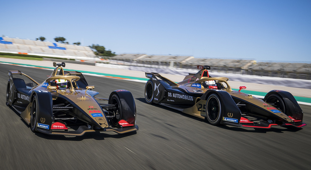 Le DS Techeetah di Da Costa e Vergne
