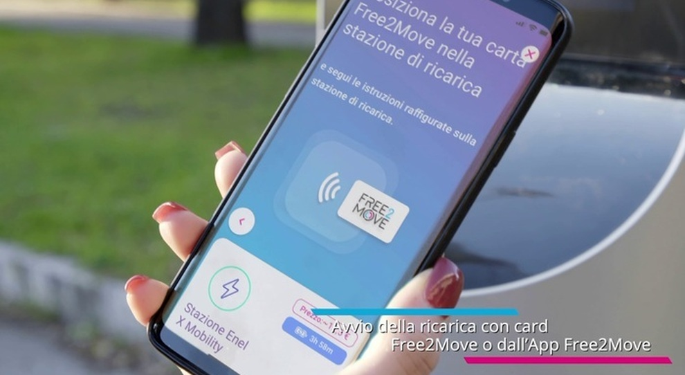 La app Charge my car per la ricarica di Free2Move
