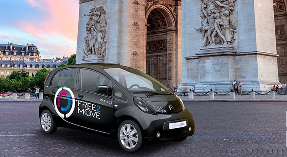 Una Citron C-Zero elettrica del car sharing Free2Move